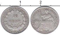 Изображение Монеты Индокитай 10 центов 1928 Серебро XF