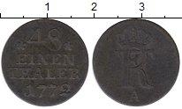 Изображение Монеты Германия Пруссия 1/48 талера 1772 Серебро XF-