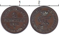 Изображение Монеты Мекленбург-Шверин 2 пфеннига 1872 Медь XF