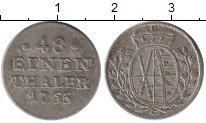 Изображение Монеты Германия Саксония 1/48 талера 1765 Серебро VF