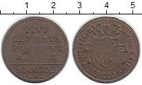Изображение Монеты Ватикан 1/2 байоччи 1822 Медь XF