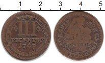 Изображение Монеты Германия Мюнстер 3 пфеннига 1748 Медь VF