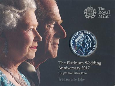 Изображение Подарочные монеты Великобритания 20 фунтов 2017 Серебро Proof-