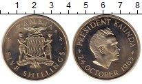 Изображение Монеты Замбия 5 шиллингов 1965 Медно-никель Proof-
