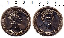 Изображение Монеты Тристан-да-Кунья 50 пенсов 2001 Медно-никель UNC-
