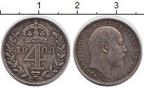 Изображение Монеты Европа Великобритания 4 пенса 1908 Серебро Prooflike