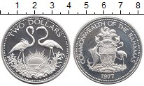 Изображение Монеты Багамские острова 2 доллара 1977 Серебро Proof-
