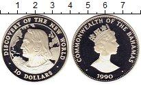 Изображение Монеты Северная Америка Багамские острова 10 долларов 1990 Серебро Proof-
