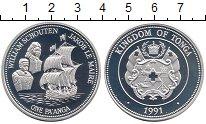 Изображение Монеты Австралия и Океания Тонга 1 паанга 1991 Серебро Proof-