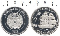 Изображение Монеты Австралия и Океания Тонга 1 паанга 1993 Серебро Proof-