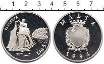 Изображение Монеты Мальта 5 лир 1994 Серебро Proof-