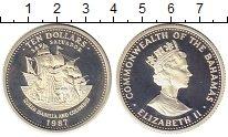 Изображение Монеты Багамские острова 10 долларов 1987 Серебро Proof-