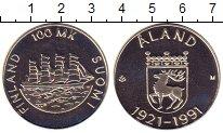 Изображение Монеты Финляндия 100 марок 1991 Серебро Proof- 70 лет автономии Ала
