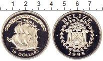 Изображение Монеты Северная Америка Белиз 10 долларов 1995 Серебро Proof-