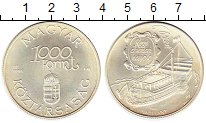 Изображение Монеты Европа Венгрия 1000 форинтов 1995 Серебро UNC-
