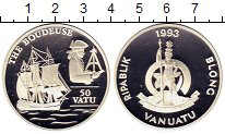 Изображение Монеты Вануату 50 вату 1993 Серебро Proof-