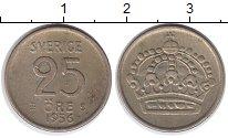 Изображение Монеты Европа Швеция 25 эре 1956 Серебро XF