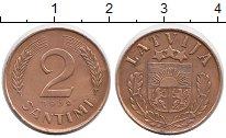 Изображение Монеты Европа Латвия 2 сантима 1939 Бронза XF
