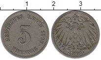 Изображение Монеты Германия 5 пфеннигов 1890 Медно-никель XF