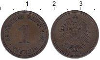 Изображение Монеты Германия 1 пфенниг 1874 Медь XF