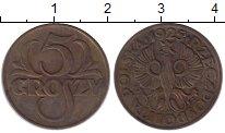 Изображение Монеты Польша 5 грош 1925 Бронза XF