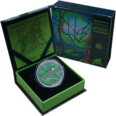 Изображение Подарочные монеты Африка Конго 1000 франков 2016 Серебро Proof