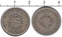 Изображение Монеты Ангола 2 1/2 эскудо 1956 Медно-никель XF-