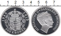 Изображение Монеты Европа Дания 500 крон 2010 Серебро Proof