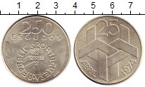 Изображение Монеты Европа Португалия 250 эскудо 1974 Серебро UNC-