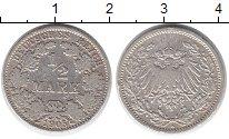 Изображение Монеты Европа Германия 1/2 марки 1905 Серебро VF