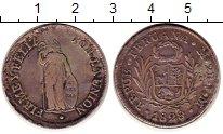 Изображение Монеты Южная Америка Перу 2 реала 1828 Серебро XF