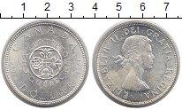 Изображение Монеты Канада 1 доллар 1964 Серебро XF 100-летие Квебека.