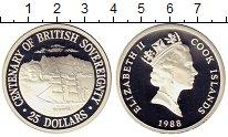 Изображение Монеты Новая Зеландия Острова Кука 25 долларов 1988 Серебро Proof