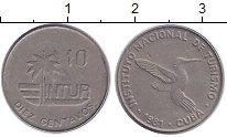 Изображение Монеты Куба 10 сентаво 1981 Медно-никель XF INTUR,птица