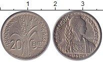 Изображение Монеты Индокитай 20 сантим 1941 Медно-никель XF-