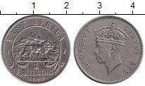 Изображение Монеты Восточная Африка 1 шиллинг 1949 Медно-никель XF Георг VI