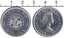Изображение Монеты Северная Америка Канада 1 доллар 1964 Серебро UNC-