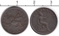 Изображение Монеты Греция Ионические острова 1 лепта 1834 Медь XF-