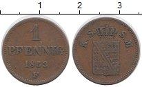 Изображение Монеты Саксония 1 пфенниг 1853 Медь XF