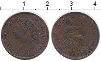 Изображение Монеты Великобритания 1 фартинг 1885 Бронза XF