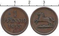 Изображение Монеты Брауншвайг-Вольфенбюттель 1 пфенниг 1855 Медь XF-