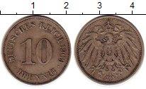 Изображение Монеты Германия 10 пфеннигов 1909 Медно-никель XF