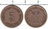 Изображение Монеты Германия 5 пфеннигов 1909 Медно-никель XF-