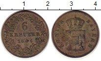 Изображение Монеты Бавария 6 крейцеров 1846 Серебро XF-