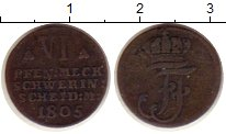 Изображение Монеты Германия Мекленбург-Шверин 6 пфеннигов 1805 Серебро XF-