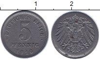 Изображение Монеты Германия 5 пфеннигов 1916 Железо XF+