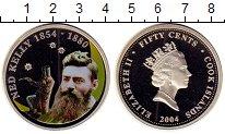 Изображение Монеты Острова Кука 50 центов 2004 Медно-никель Proof Цифровая  печать.  Е