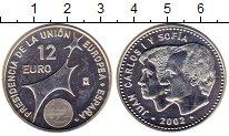 Изображение Монеты Европа Испания 12 евро 2002 Серебро UNC-