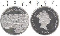 Изображение Монеты Соломоновы острова 25 долларов 2003 Серебро Proof Елизавета II.  CHINA