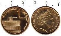 Изображение Монеты Австралия 1 доллар 2012 Латунь UNC- Австралийская пшениц